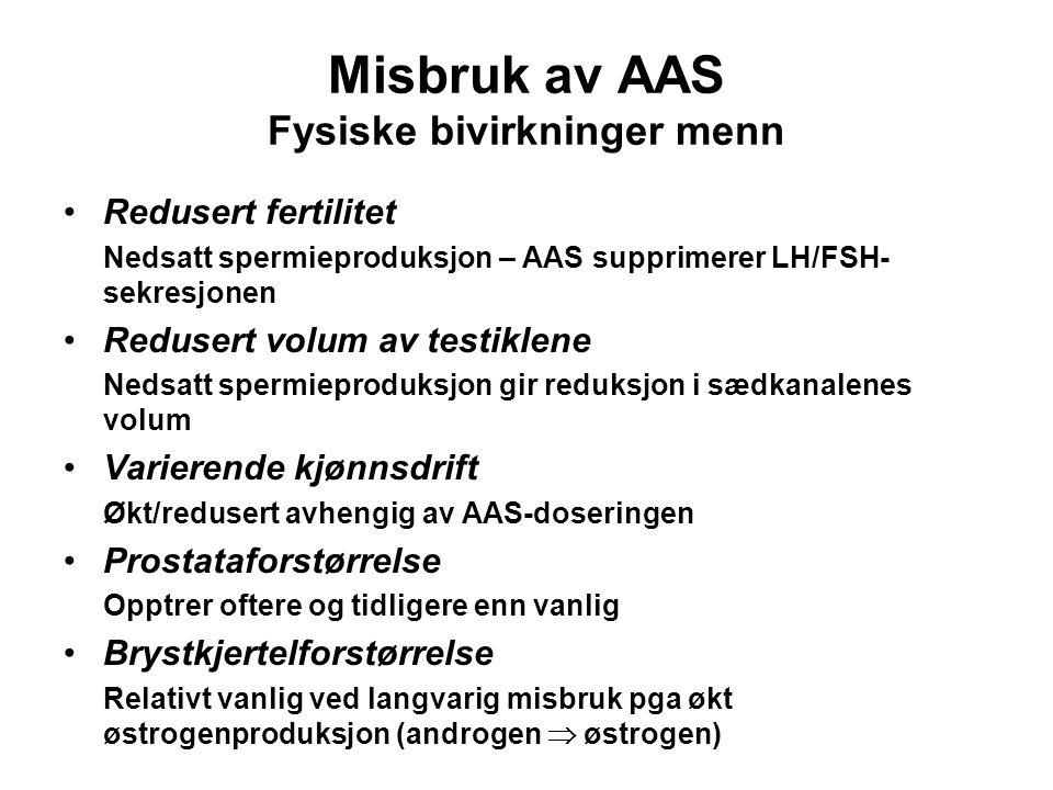 Misbruk av AAS Fysiske bivirkninger menn