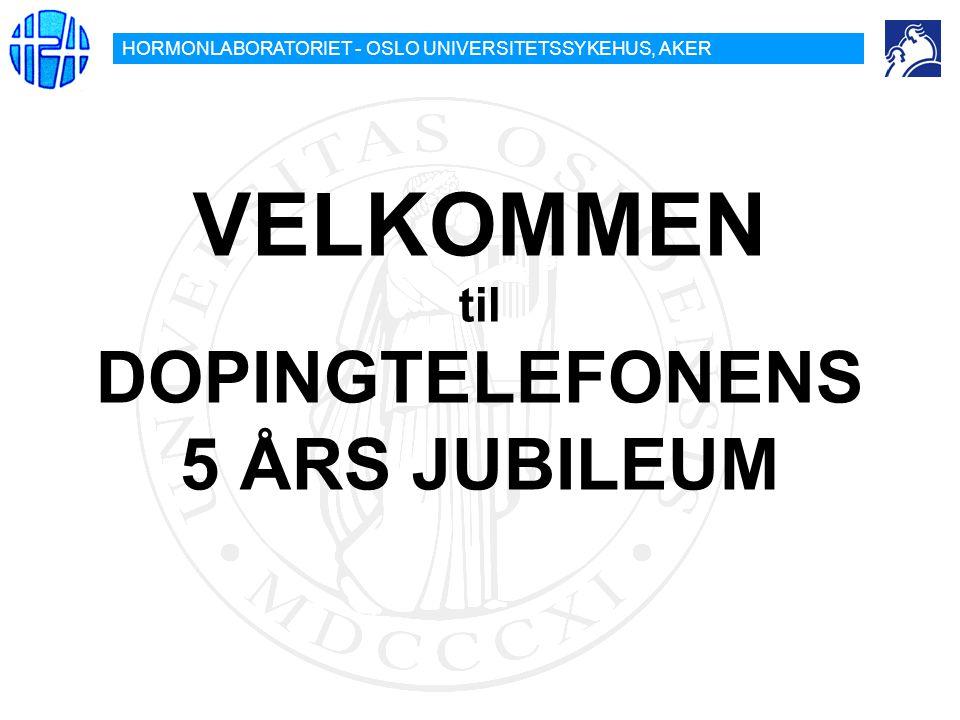 VELKOMMEN til DOPINGTELEFONENS 5 ÅRS JUBILEUM