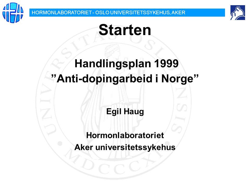 Starten Handlingsplan 1999 Anti-dopingarbeid i Norge