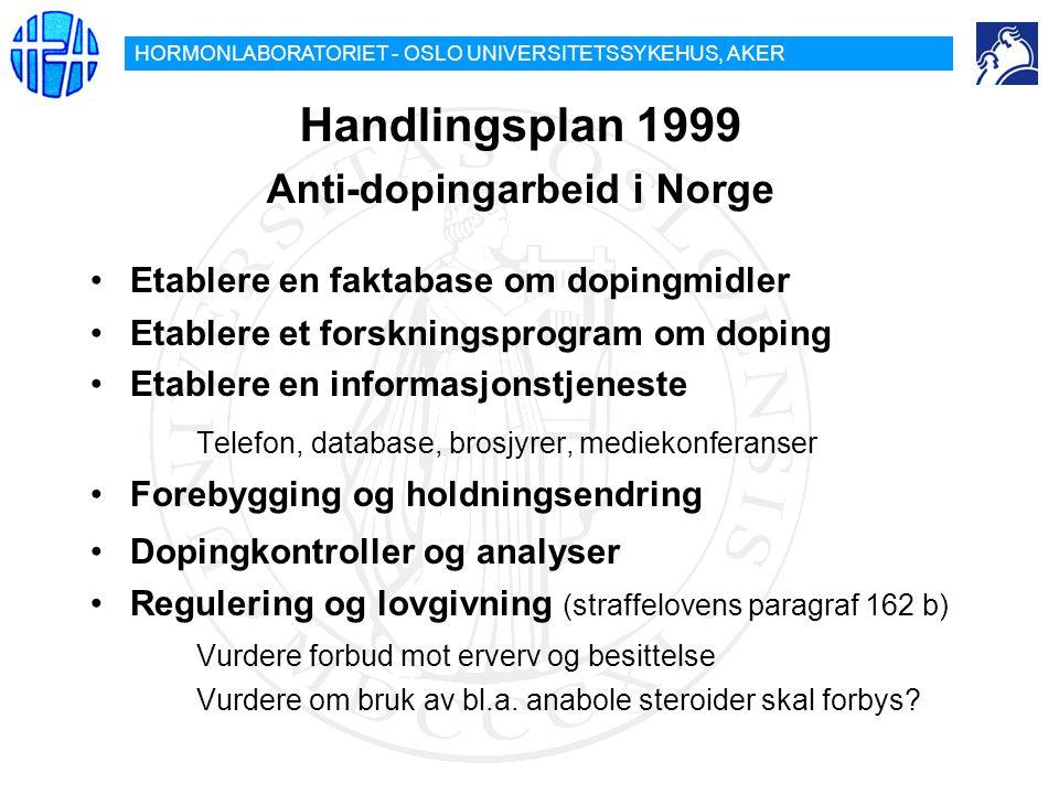 Handlingsplan 1999 Anti-dopingarbeid i Norge