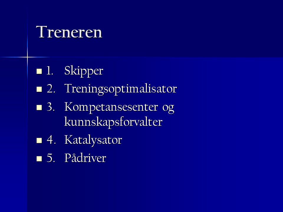 Treneren 1. Skipper 2. Treningsoptimalisator