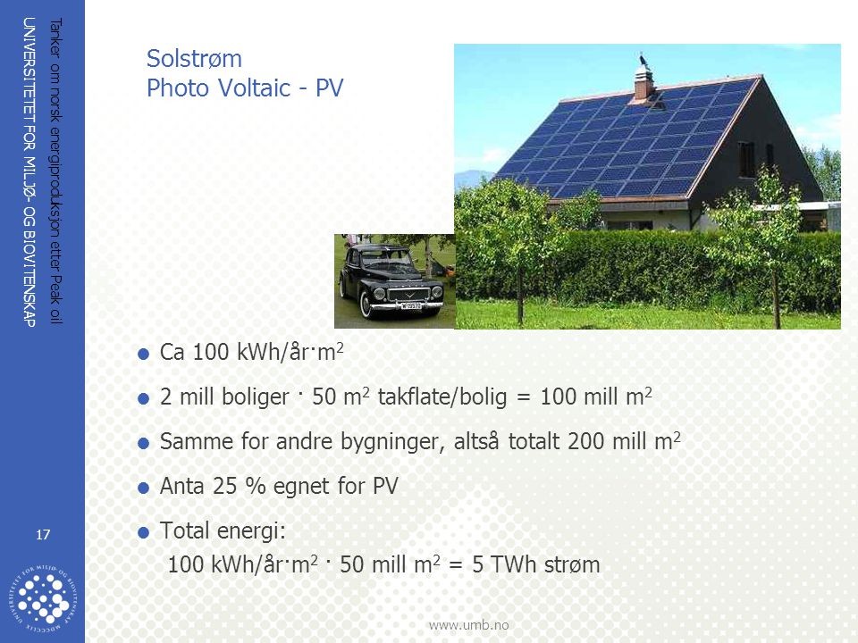 Solstrøm Photo Voltaic - PV