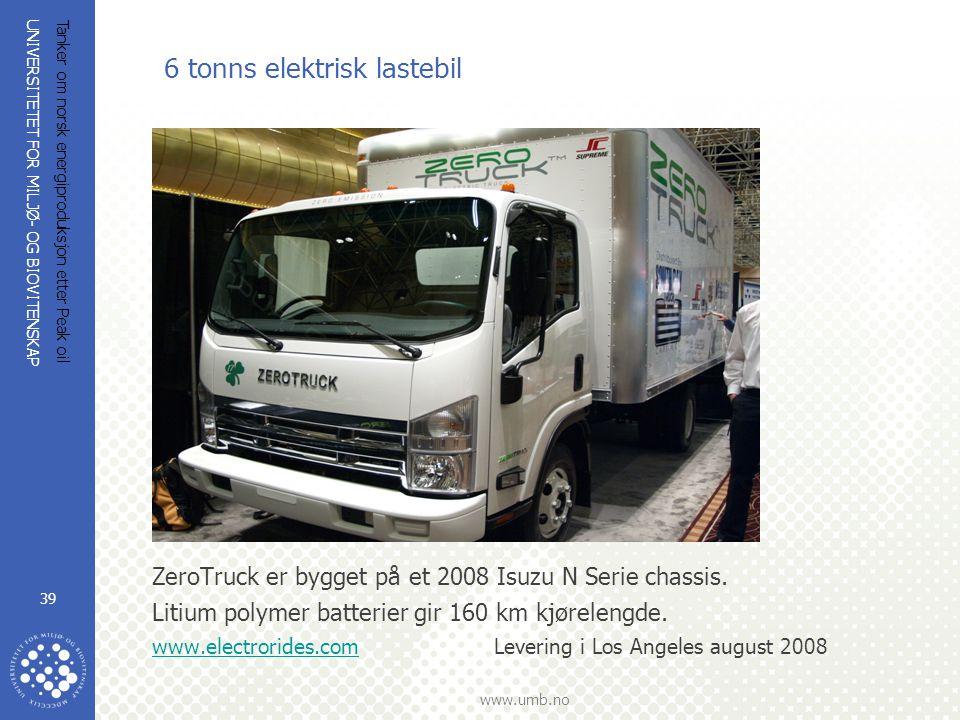 6 tonns elektrisk lastebil
