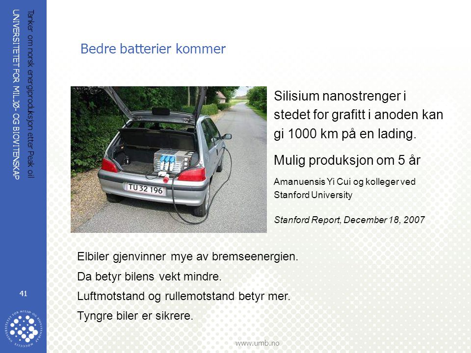 Bedre batterier kommer