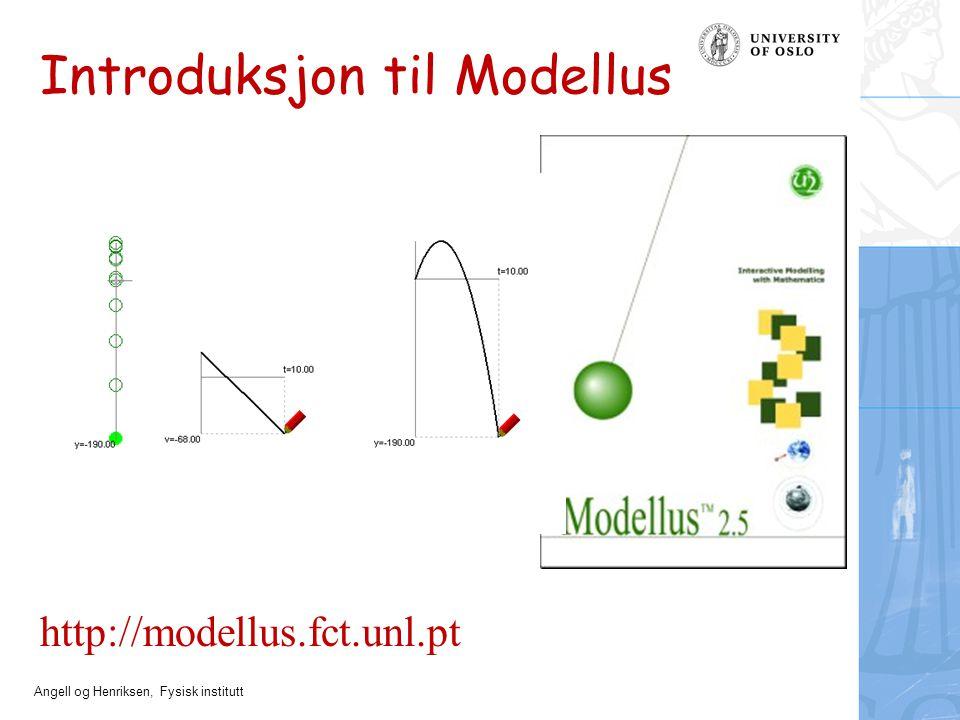 Introduksjon til Modellus