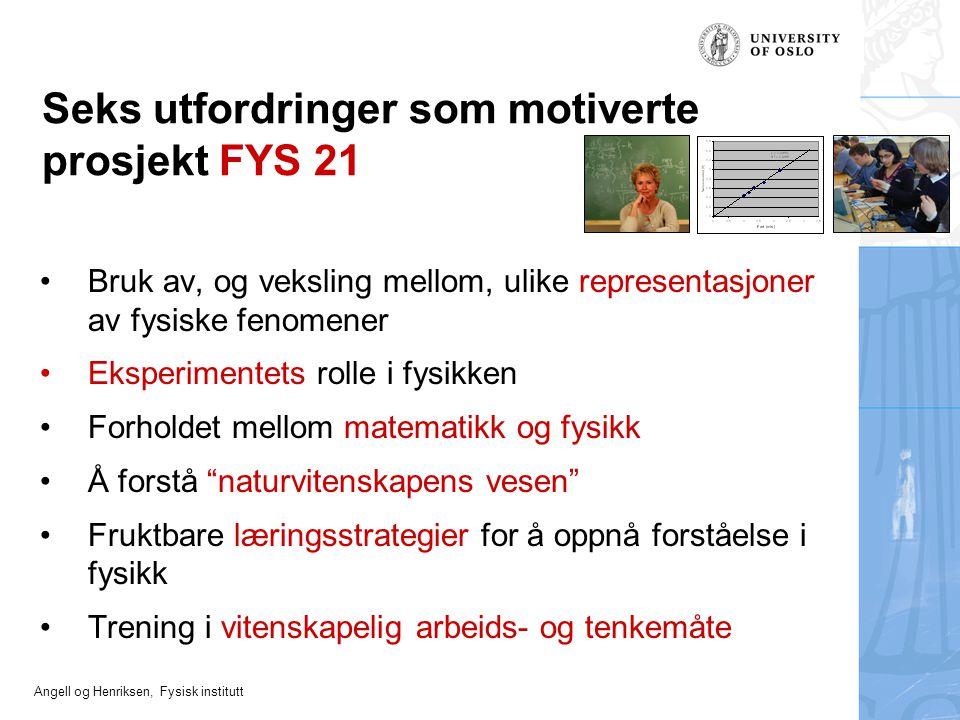 Seks utfordringer som motiverte prosjekt FYS 21