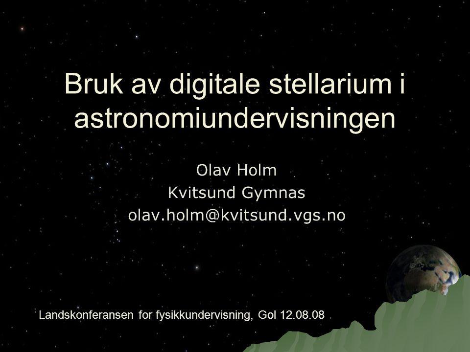 Bruk av digitale stellarium i astronomiundervisningen