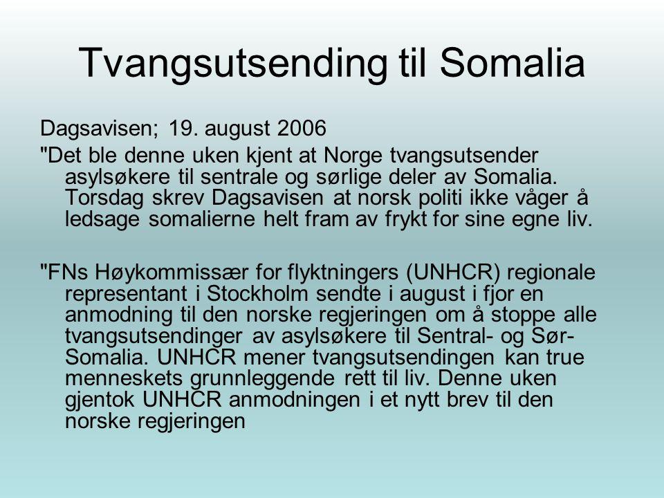 Tvangsutsending til Somalia