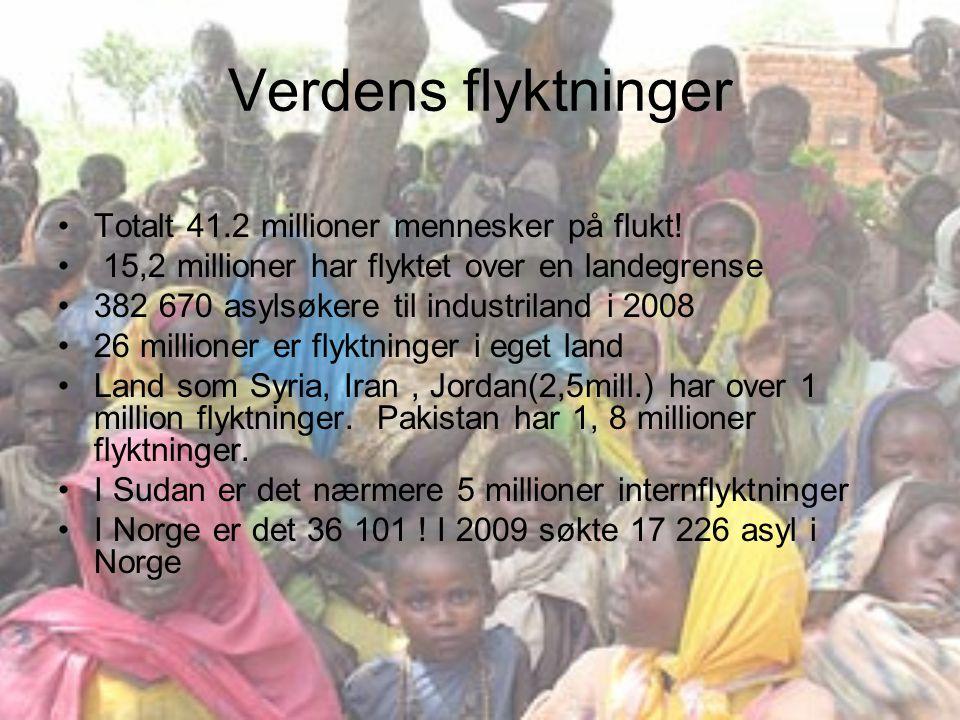 Verdens flyktninger Totalt 41.2 millioner mennesker på flukt!