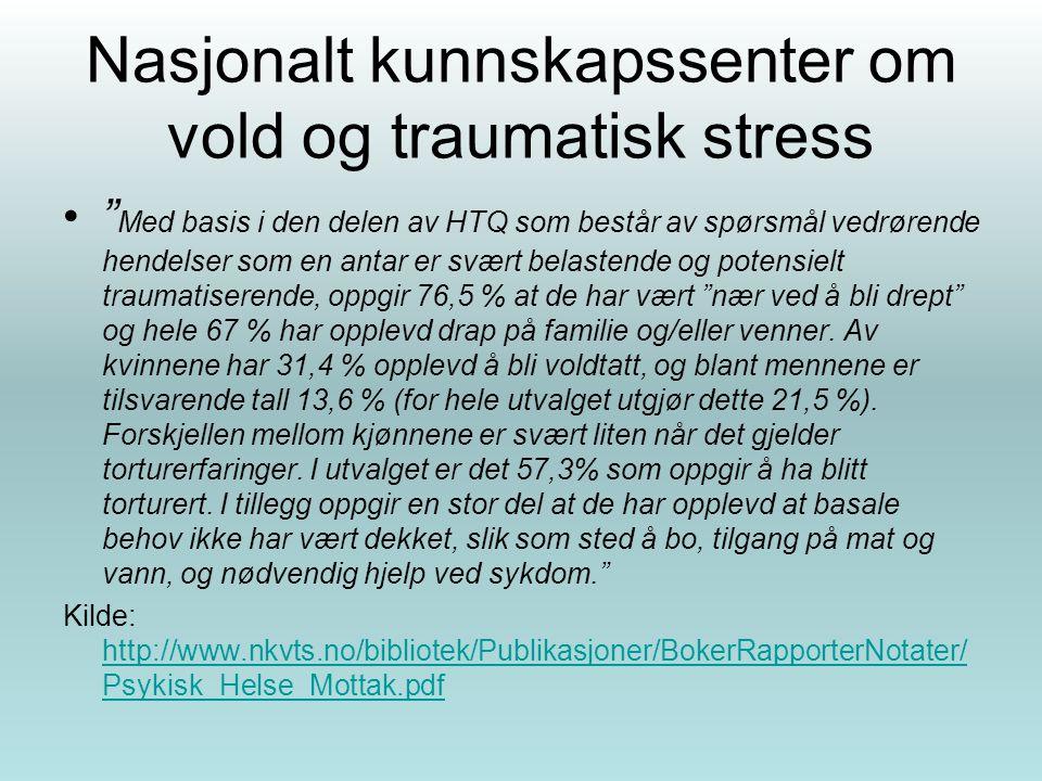 Nasjonalt kunnskapssenter om vold og traumatisk stress
