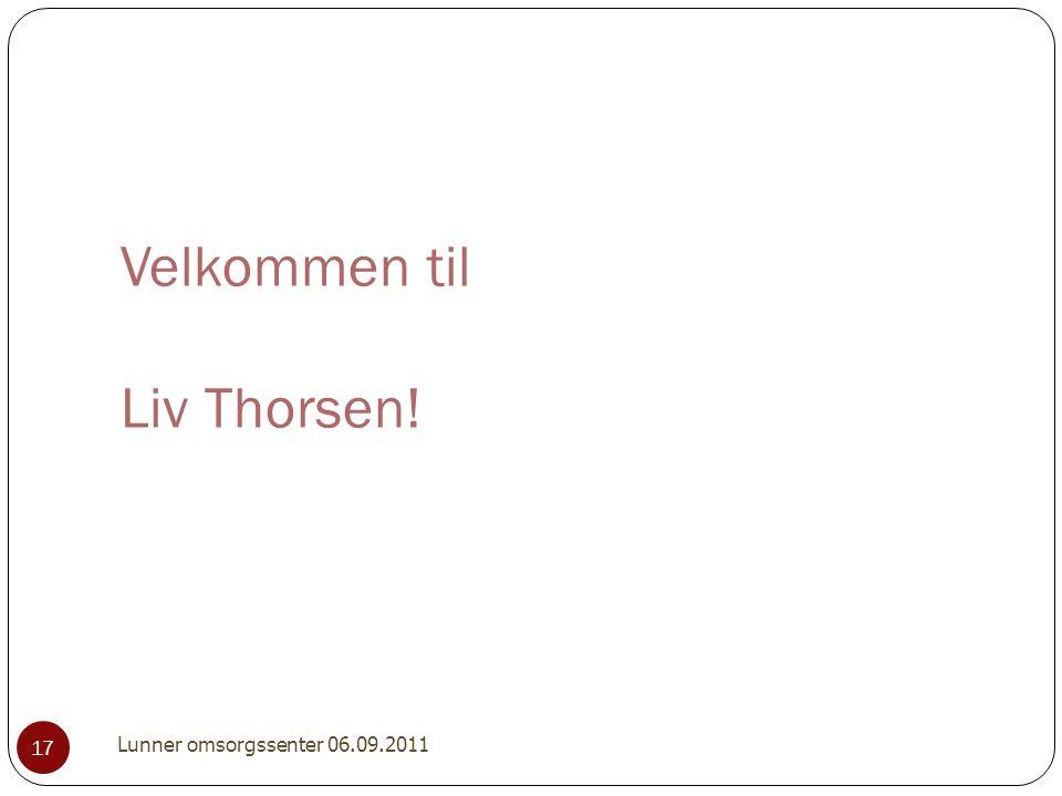 Velkommen til Liv Thorsen!