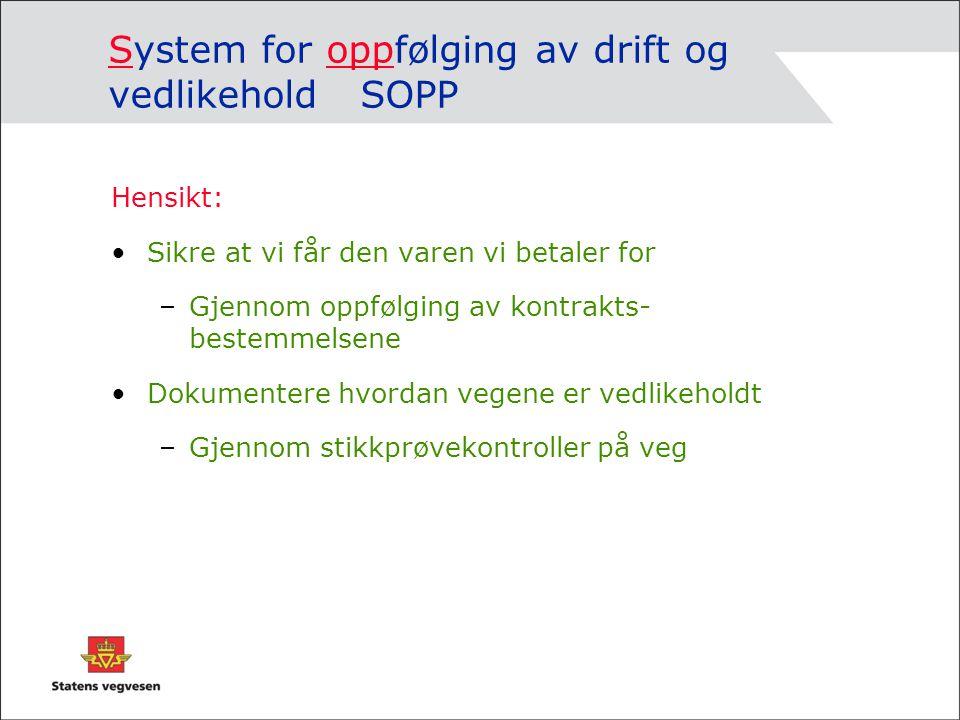 System for oppfølging av drift og vedlikehold SOPP