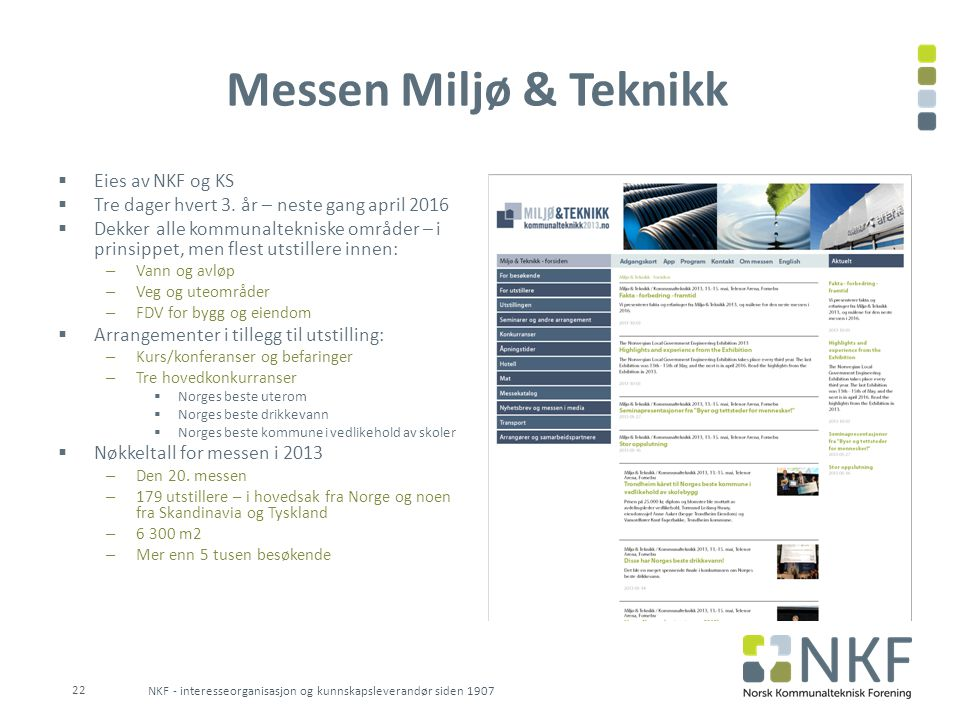 Messen Miljø & Teknikk Eies av NKF og KS