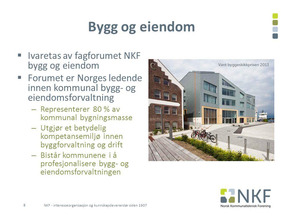 Bygg og eiendom Ivaretas av fagforumet NKF bygg og eiendom