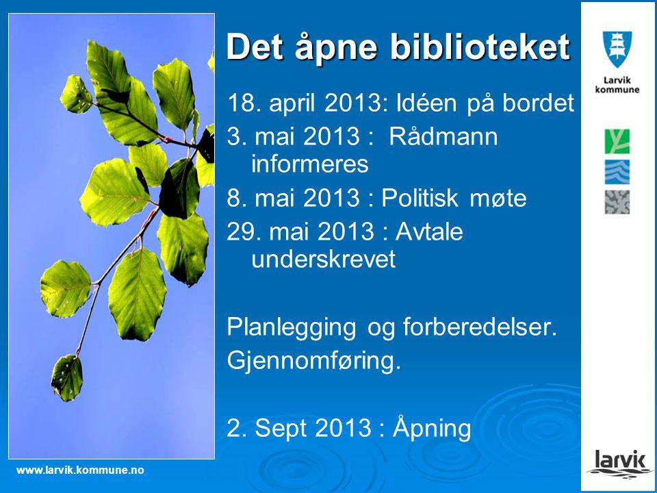 Det åpne biblioteket 18. april 2013: Idéen på bordet