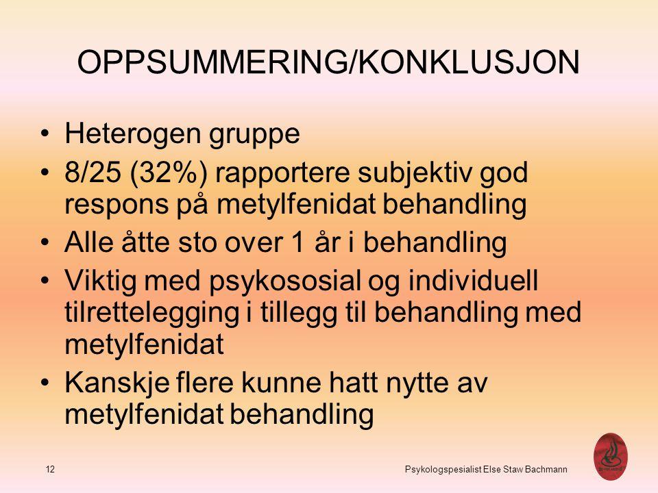 OPPSUMMERING/KONKLUSJON
