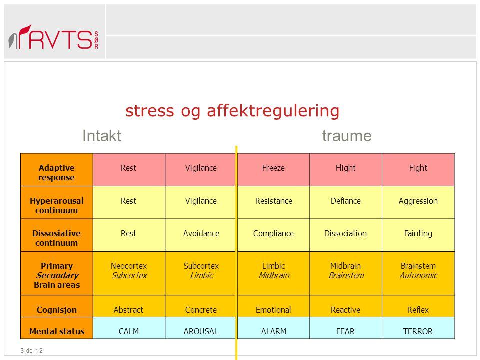 stress og affektregulering