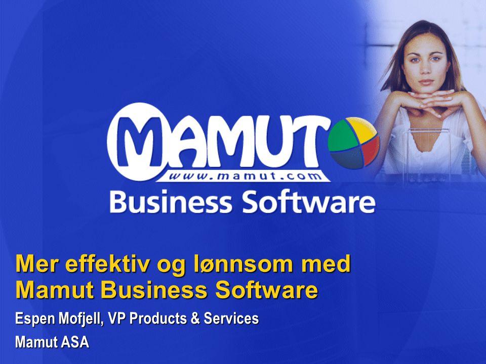 Mer effektiv og lønnsom med Mamut Business Software