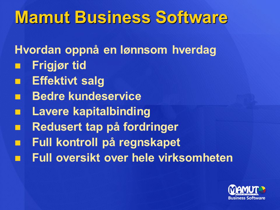 Mamut Business Software