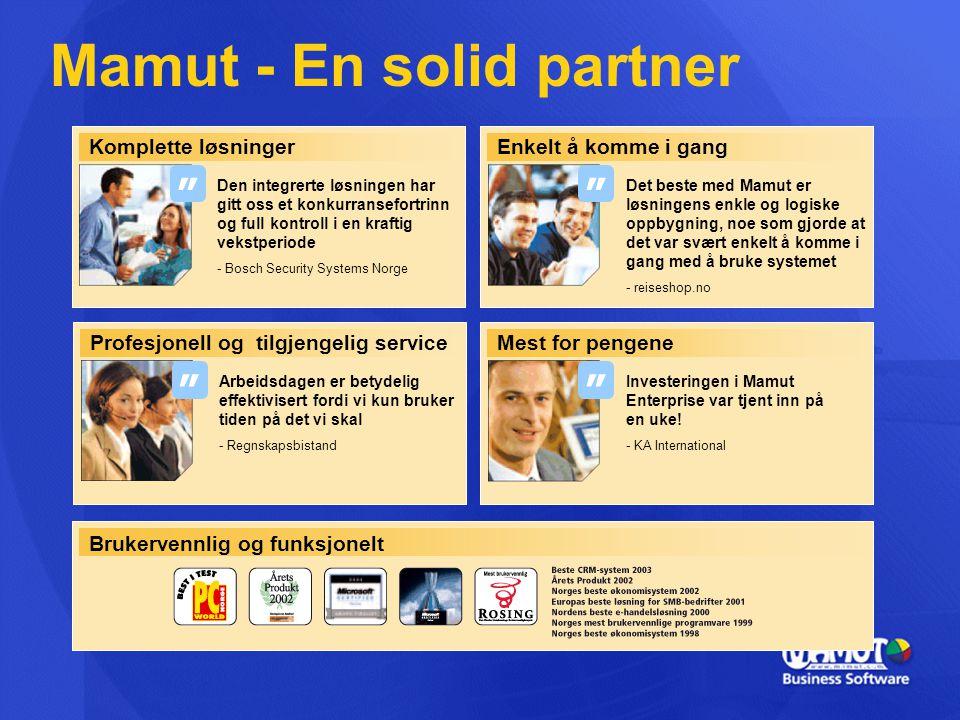 Mamut - En solid partner