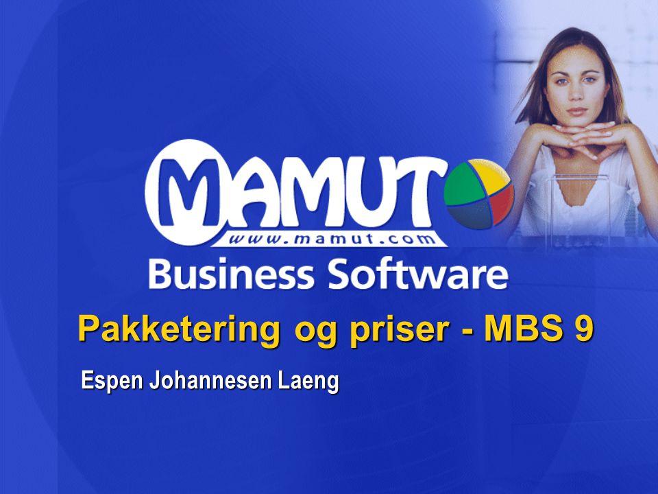 Pakketering og priser - MBS 9