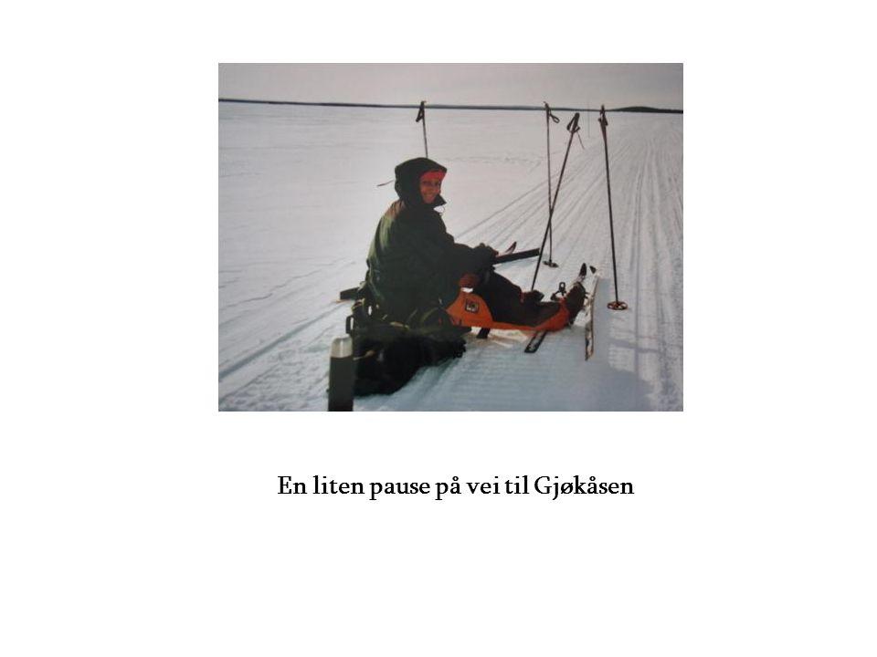 En liten pause på vei til Gjøkåsen