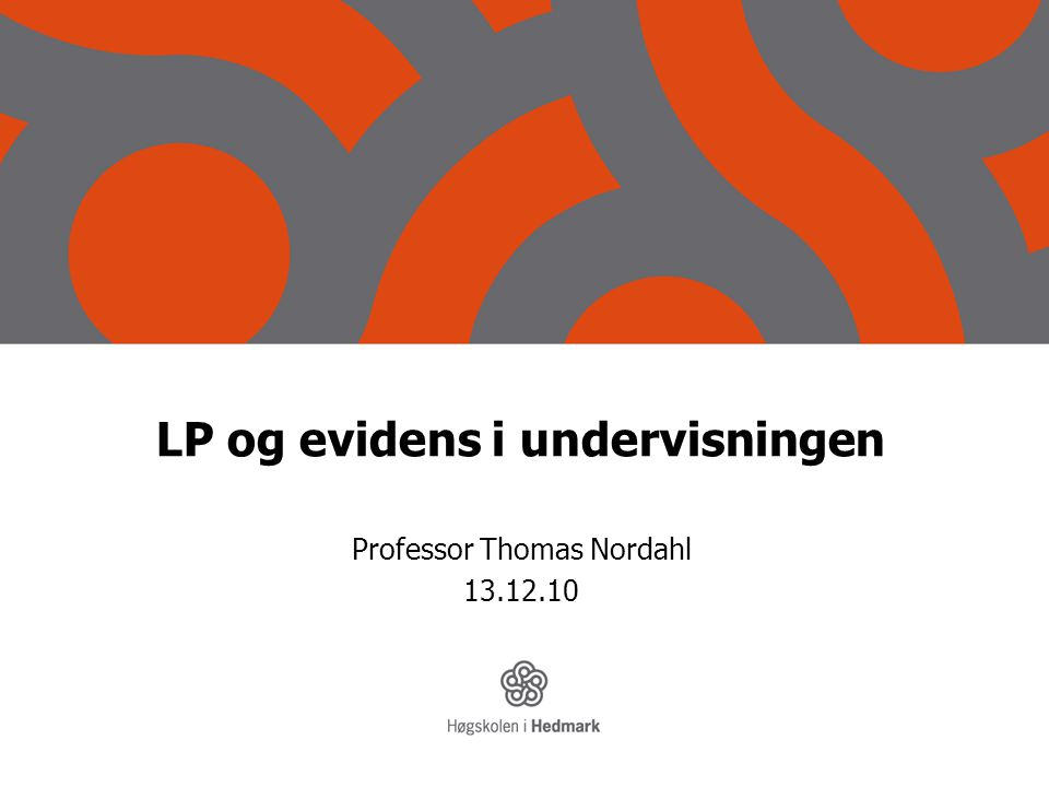 LP og evidens i undervisningen