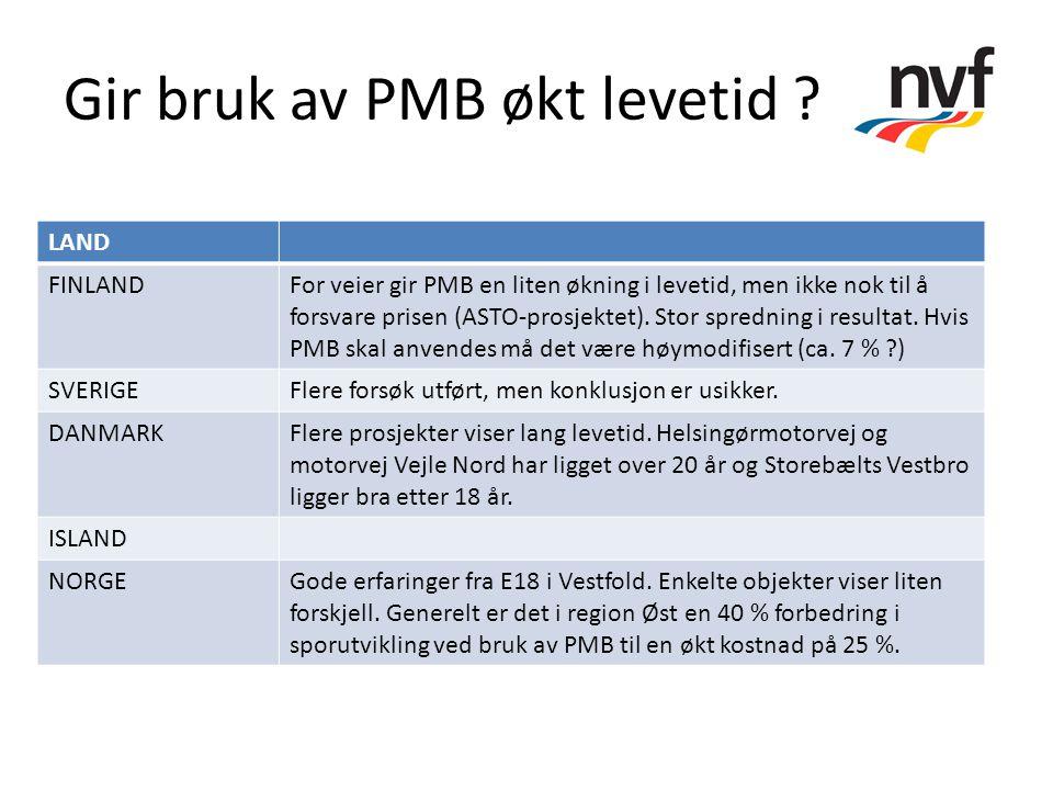 Gir bruk av PMB økt levetid