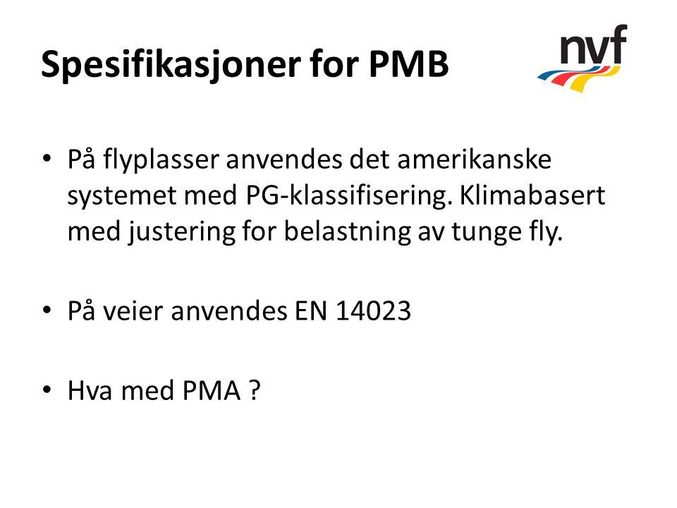Spesifikasjoner for PMB