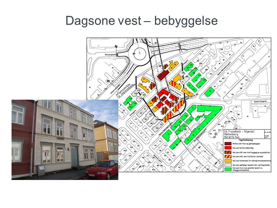 Dagsone vest – bebyggelse