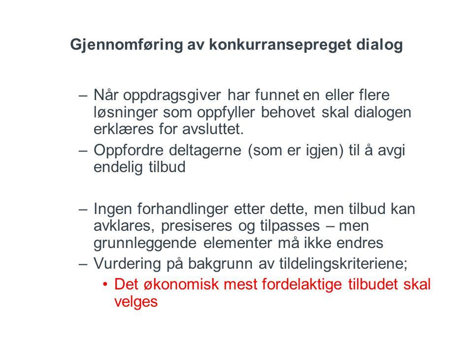 Gjennomføring av konkurransepreget dialog