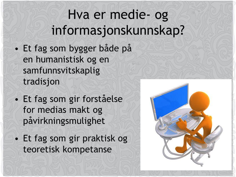 Hva er medie- og informasjonskunnskap