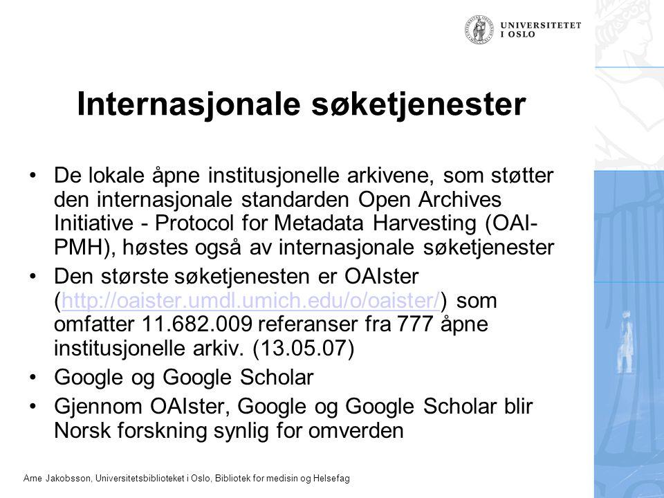 Internasjonale søketjenester