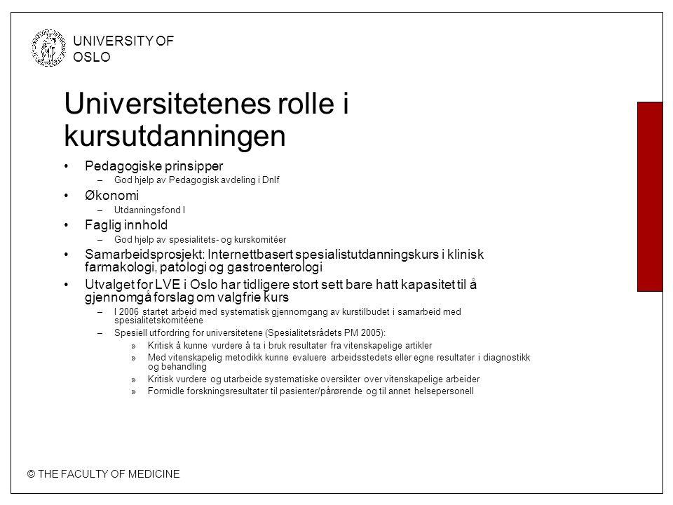 Universitetenes rolle i kursutdanningen