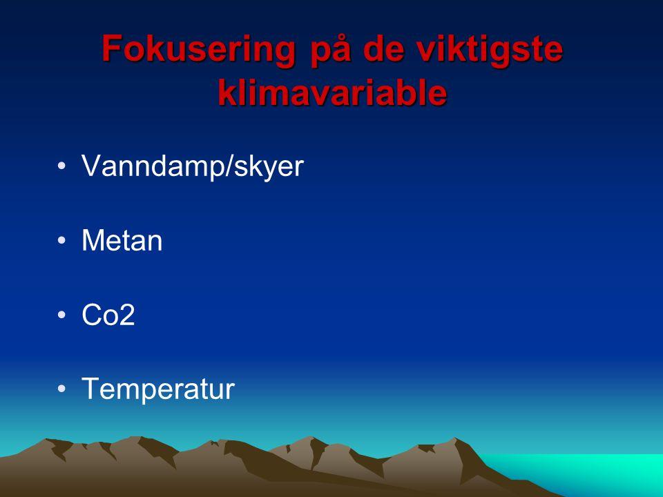 Fokusering på de viktigste klimavariable