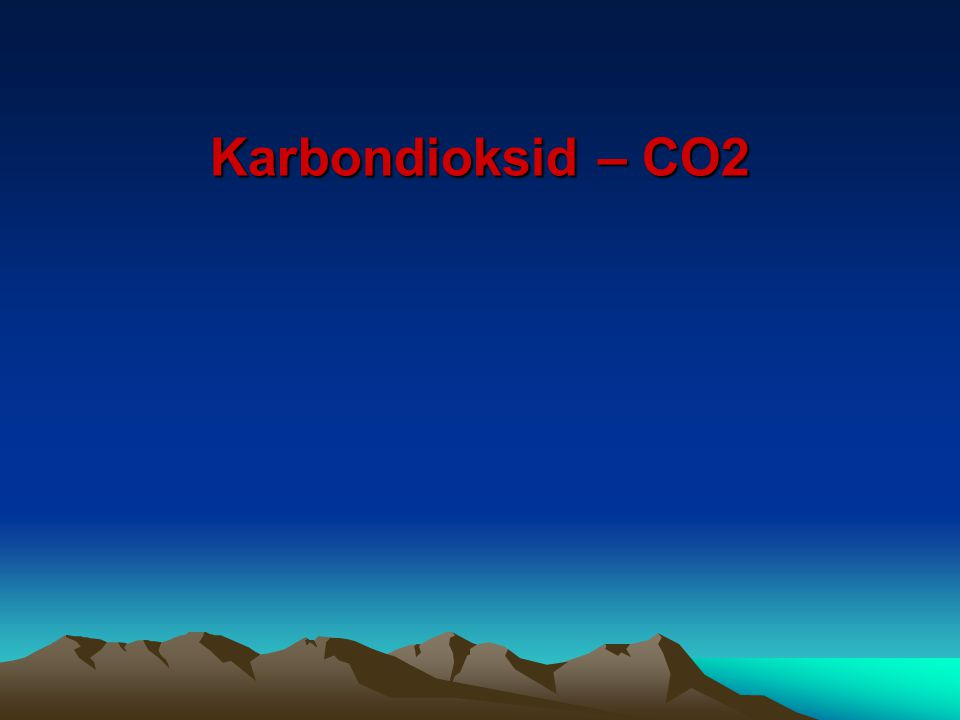 Karbondioksid – CO2