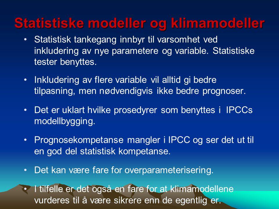Statistiske modeller og klimamodeller