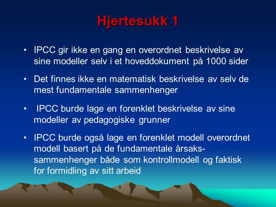 Hjertesukk 1 IPCC gir ikke en gang en overordnet beskrivelse av sine modeller selv i et hoveddokument på 1000 sider.