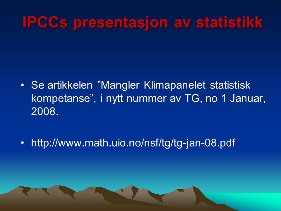 IPCCs presentasjon av statistikk