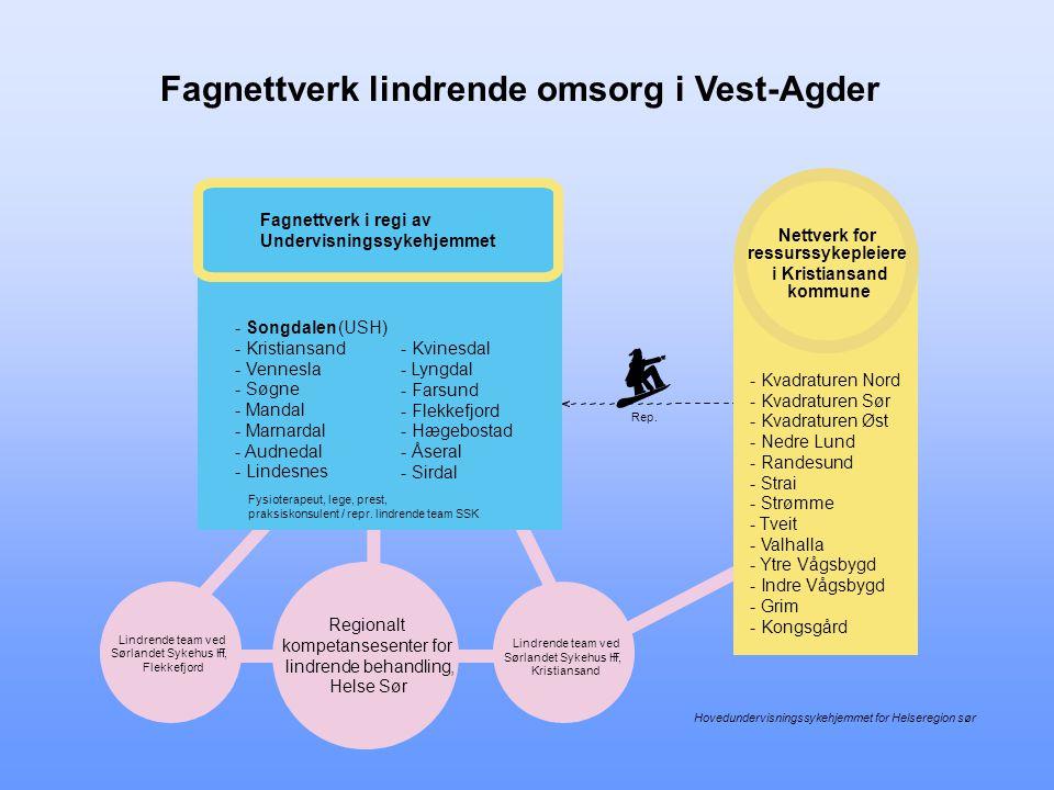 € Fagnettverk lindrende omsorg i Vest-Agder Fagnettverk i regi av