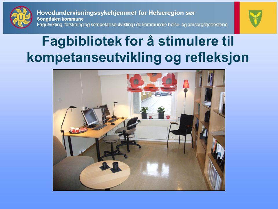 Fagbibliotek for å stimulere til kompetanseutvikling og refleksjon