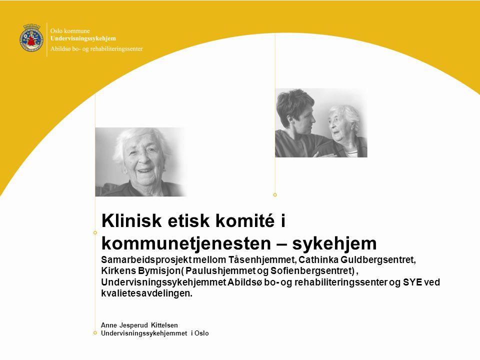 Klinisk etisk komité i kommunetjenesten – sykehjem