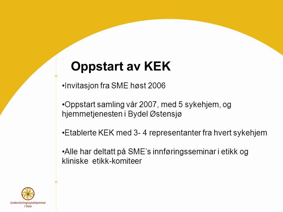 Oppstart av KEK Invitasjon fra SME høst 2006