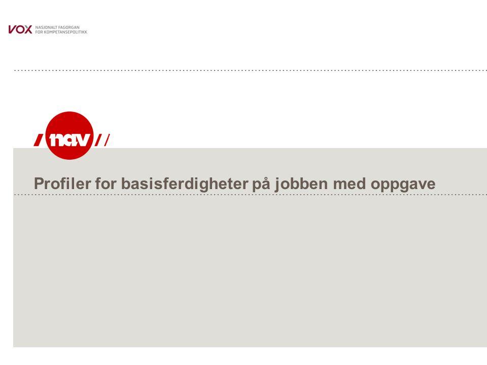 Profiler for basisferdigheter på jobben med oppgave