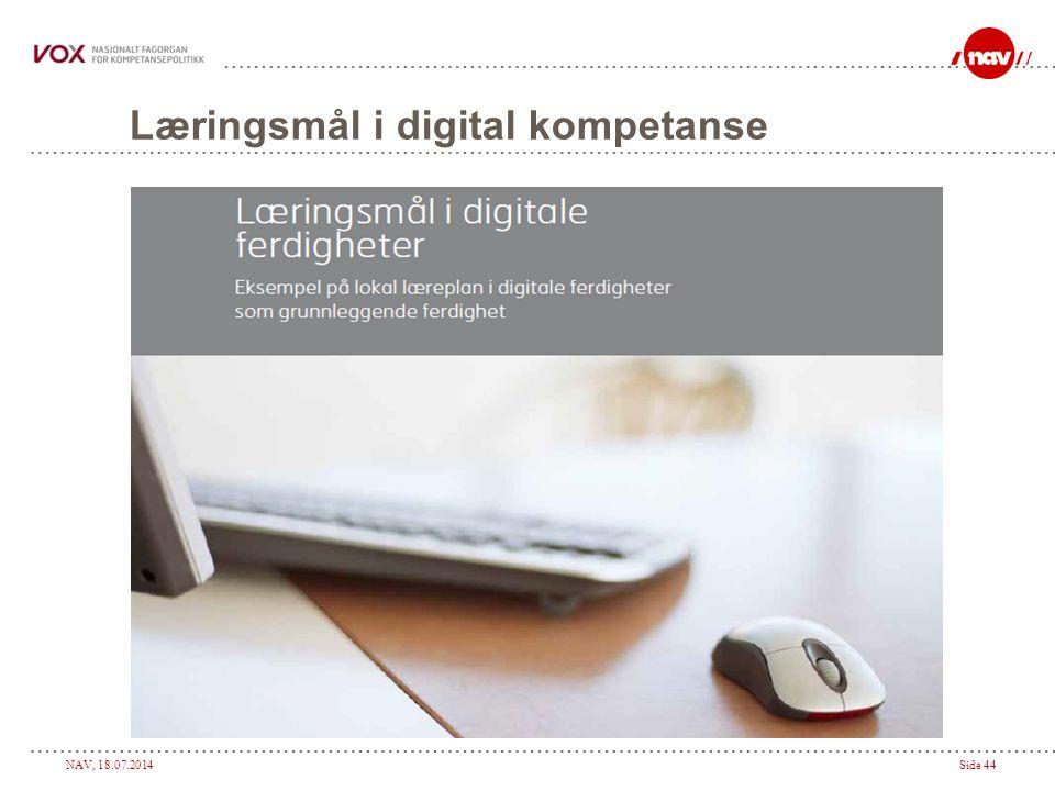 Læringsmål i digital kompetanse
