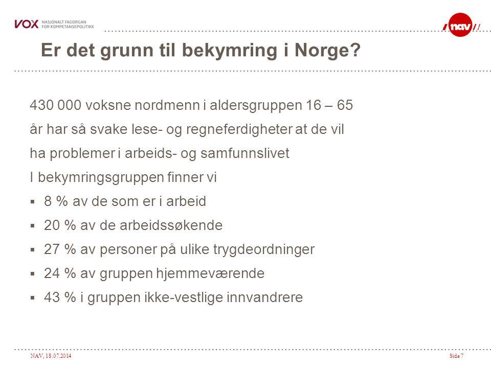 Er det grunn til bekymring i Norge