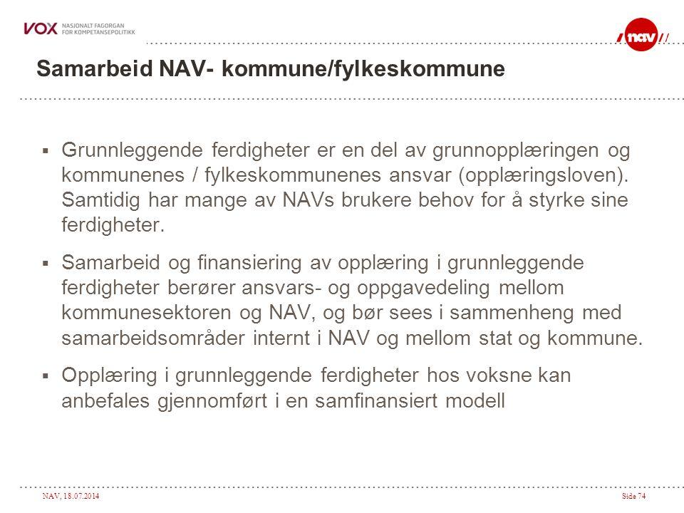 Samarbeid NAV- kommune/fylkeskommune