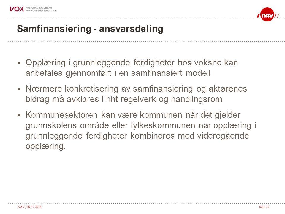 Samfinansiering - ansvarsdeling