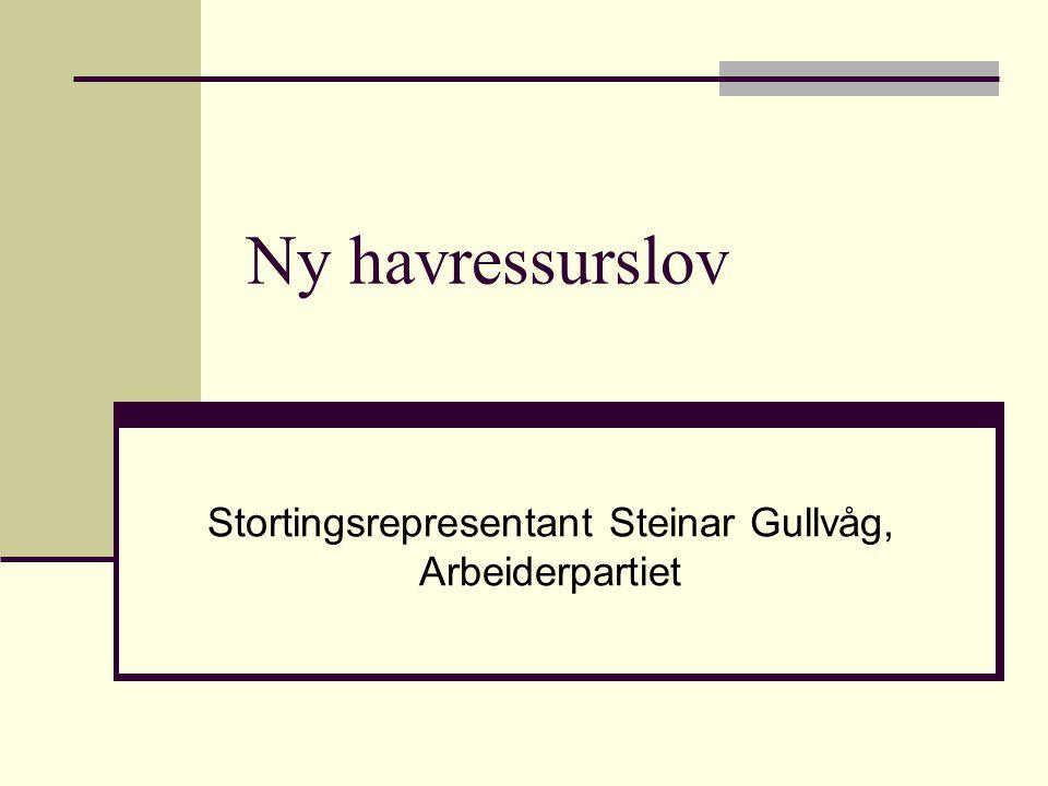 Stortingsrepresentant Steinar Gullvåg, Arbeiderpartiet