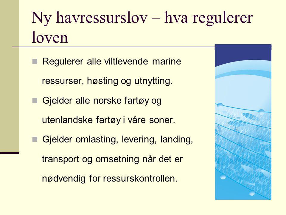 Ny havressurslov – hva regulerer loven